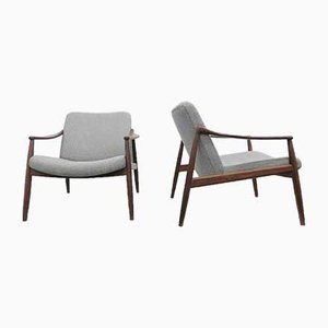 Mid-Century Lounge Chairs by Hartmut Lohmeyer for Wilkhahn, Set of 2