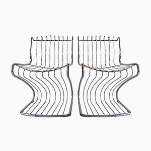 Skulpturale Beistellstühle, 1970er, 2er Set