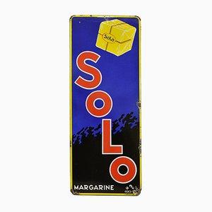 Panneau Solo Margarine Vintage en Émail, 1940s
