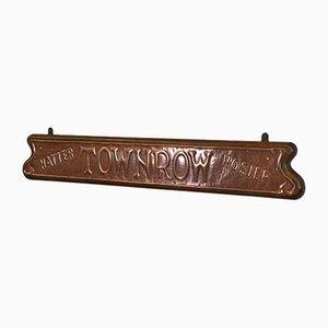 Edwardianisches Jugendstil Ladenschild aus Kupfer & Eiche