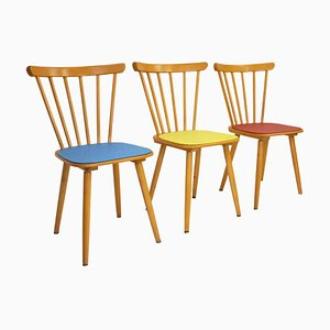Mid-Century German Kitchen Chairs, Set of 3