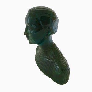 Escultura de busto transparente, años 70