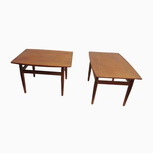 Danish Teak Side Tables by Grete Jalk for Glostrup, 1960s, Set of 2