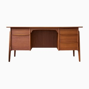 Mid-Century Danish Teak Executive Desk by Svend Aage Madsen for Sigurd Hansen, 1960s