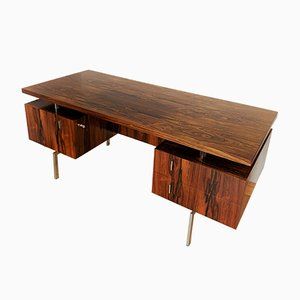 Minimalist Rosewood Executive Desk, 1960s