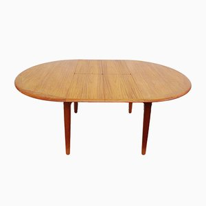 Danish Round Teak Dining Table by Svend Aage Madsen for Knudsen, 1960s