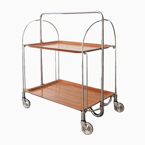 Mid-Century Foldable Serving Trolley from Bremshey & Co., 1960s
