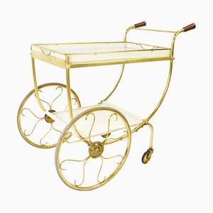 Mid-Century Brass Bar Cart by Josef Frank for Svenskt Tenn, 1960s