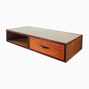 Portuguese Rosewood Wall Desk, 1960s