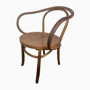Antiker Armlehnstuhl aus geprägtem Bugholz