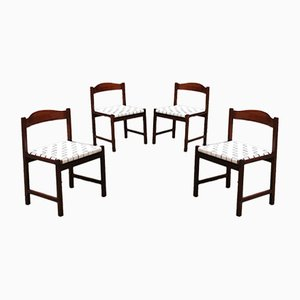 Italian Mid-Century Modern Beech & Leather Dining Chairs from Poltronova, 1960s, Set of 4