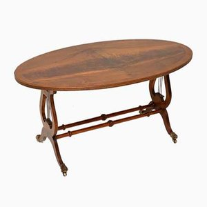 Vintage Regency Style Flame Wood Coffee Table