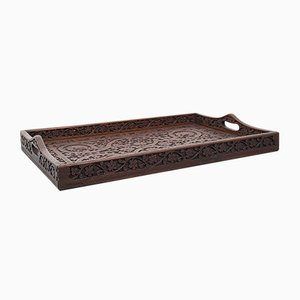Victorian Indian Mahogany Tea Tray