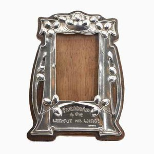 Art Nouveau Small Silver-Plated Picture Frame, 1900s