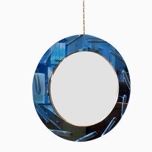 Round Mirror from Cristal Art, 1970s