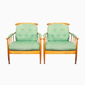 Mid-Century Skrindan Lounge Chairs by Kerstin Hörlin-Holmqvist for OPE, Set of 2