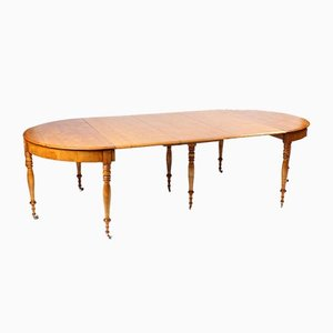 Swedish Extendable Birch Dining Table, 1860s