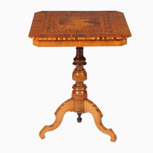 Antique Italian Walnut St. George Side Table, 1870s
