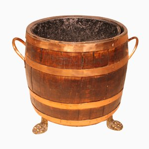 English Barrel-Shaped Coal Crate, 1800s