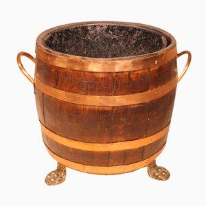 English Barrel-Shaped Coal Crate, 1800s