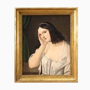 Antico ritratto di una giovane donna, XIX secolo
