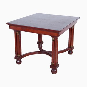 Antique Empire Style Mahogany Dining Table, Early 1900s