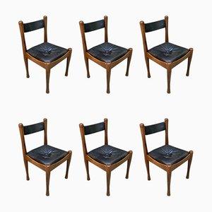 Esszimmerstühle von Silvio Coppola für Bernini, 1964, 6er Set