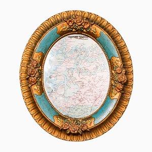 Antique German Decorative Oval Mirror, Circa 1900