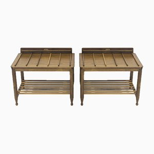 Wooden Luggage Racks from Fratelli Strada, 1960s, Set of 2