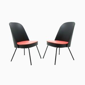 Deutsche Beistellstühle von Drabert, 1960er, 2er Set