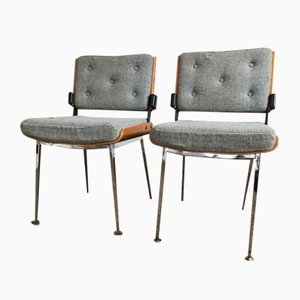 Rosewood Model 704 Dining Chairs by Alain Richard for Modern'tube, 1960s, Set of 2