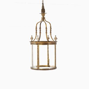 Gilt Bronze Hall Lantern, 1800s