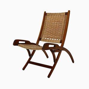 Gio Ponti Style Folding Lounge Chair, 1960s