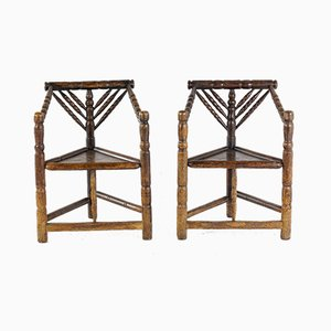 Turners' Chairs, 1800s, Set of 2