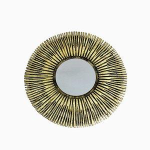 French Brass Sunburst Mirror, 1960s