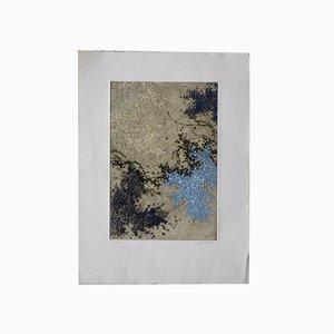 Yannick Ballif, Abstrakte Serigraphie auf Gewebter Paste, 1976