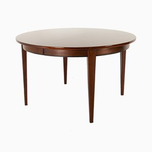 Vintage Danish Round Rosewood Model 55 Dining Table by Gunni Omann for Omann Jun, 1960s
