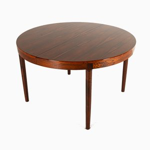Vintage Danish Round Rosewood Dining Table by Harry Østergaard for Randers Møbelfabrik, 1960s