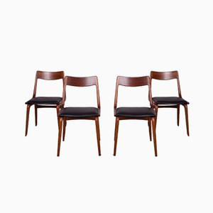 Teak Boomerang Dining Chairs by Alfred Christensen for Slagelse Møbelværk, 1950s, Set of 4