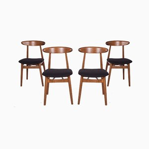 5912 Dining Chairs from Zamojska Furniture Factory, 1960s, Set of 4