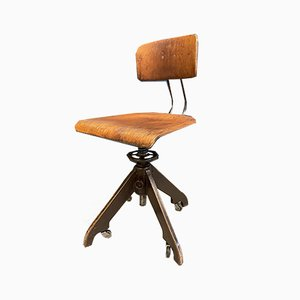 Bauhaus Architect Swivel Chair with Spindle & Wheels from Bemefa, 1958