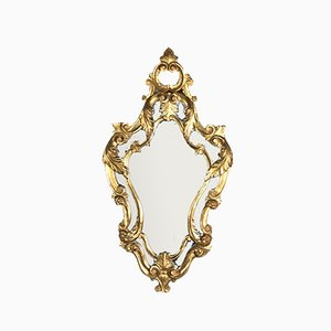 Louis XV Style Carved Wood Mirror, 1950s