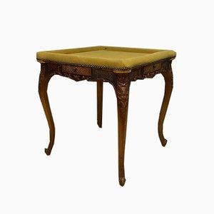 Spieltisch aus Nussholz im Louis XV Stil, 1920er