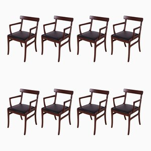 Danish Rosewood Dining Chairs by Ole Wanscher for Poul Jeppesens Møbelfabrik, 1960s, Set of 8