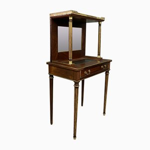 French Louis XVI Mahogany and Copper Desk