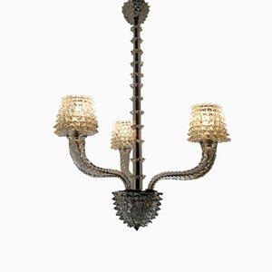 Lampada da soffitto Rostrato di Ercole Barovier per Barovier & Toso, anni '40