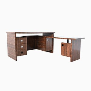 Custom Zebrano Wood Executive Desk from Belform, 1960s