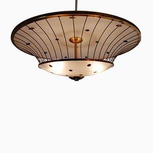 Italian Pietro Chiesa Style Ceiling Lamp, 1940s