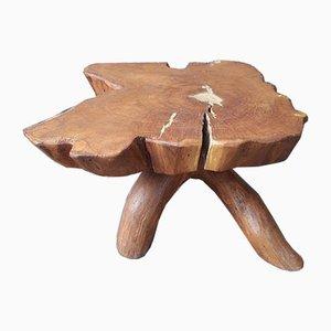 Brutalist Solid Elm Coffee Table, 1960s