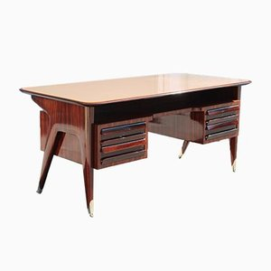 Italian Rosewood Desk from Vittorio Dassi Milan, 1950s